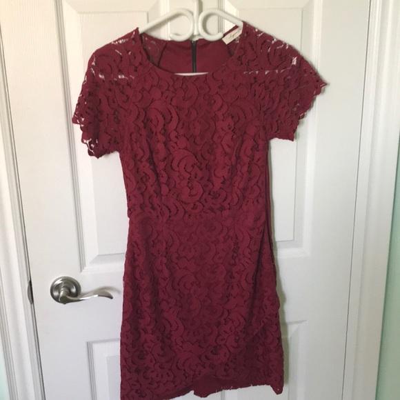 Cute burgundy lace dress